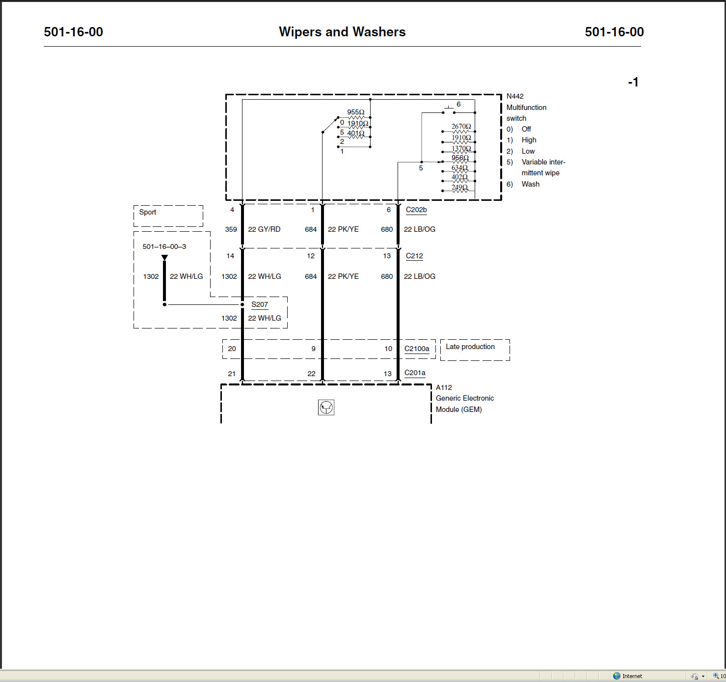 Ford Focus Wiper Motor Wiring Diagram: I Have A 2001 Ford Sport Trac 2 Wheel Drive. The Wipers