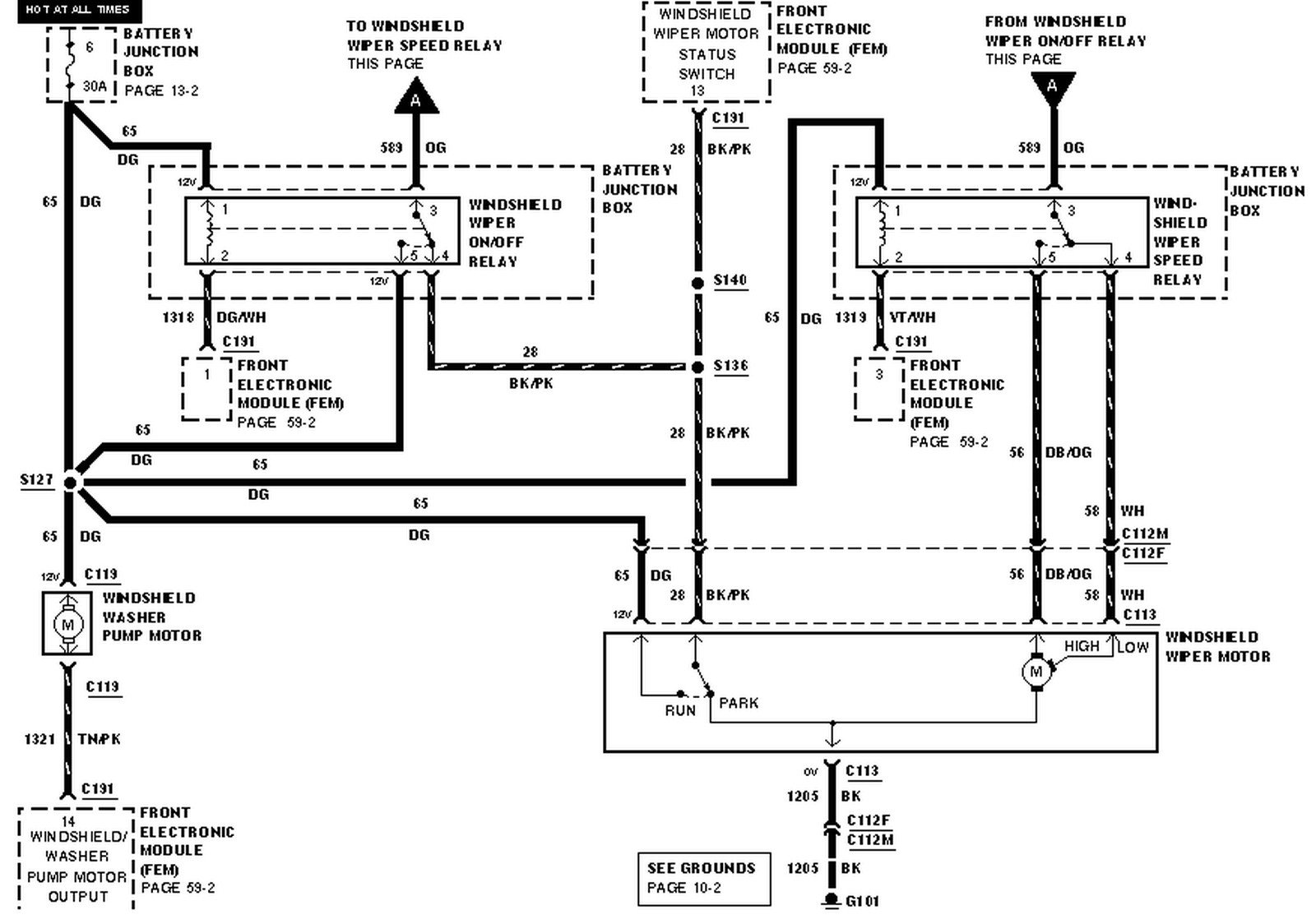 2000 Ford Windstar Electrical Diagram