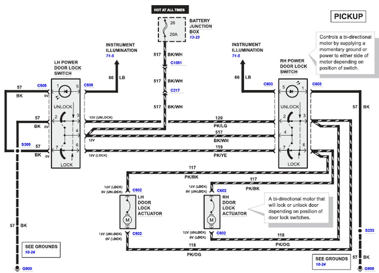 ford f 250 door lock wiring diagram i have a 2001 f250 pick up and the door locks are not ...