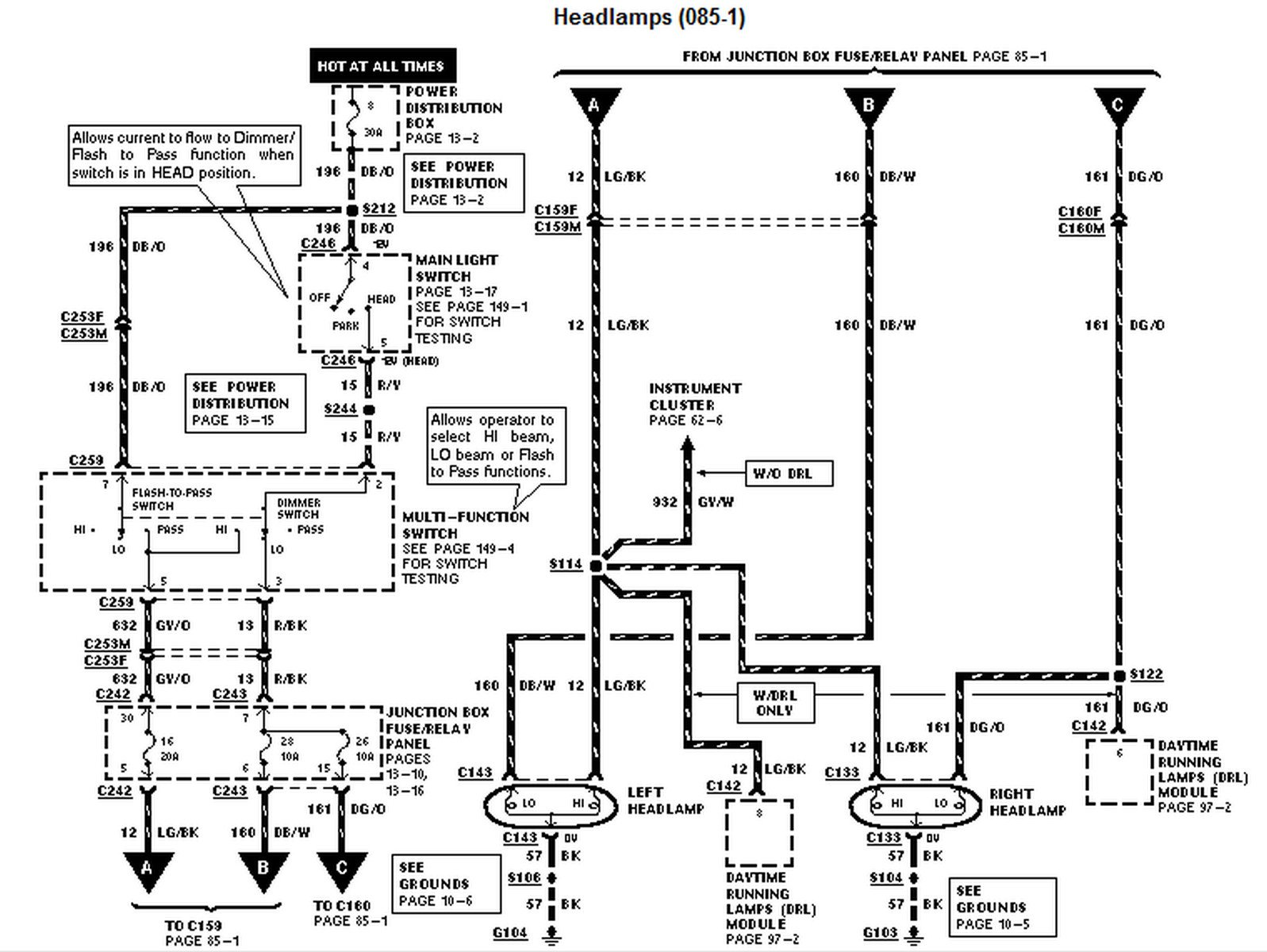 vp headlight wiring diagram vp wiring diagrams online headlight wiring diagram