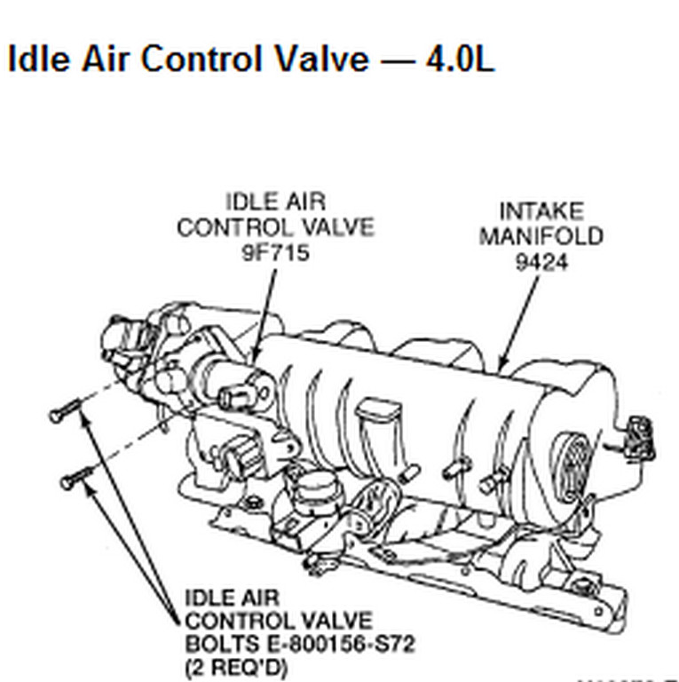 2004 ford explorer idle air control valve