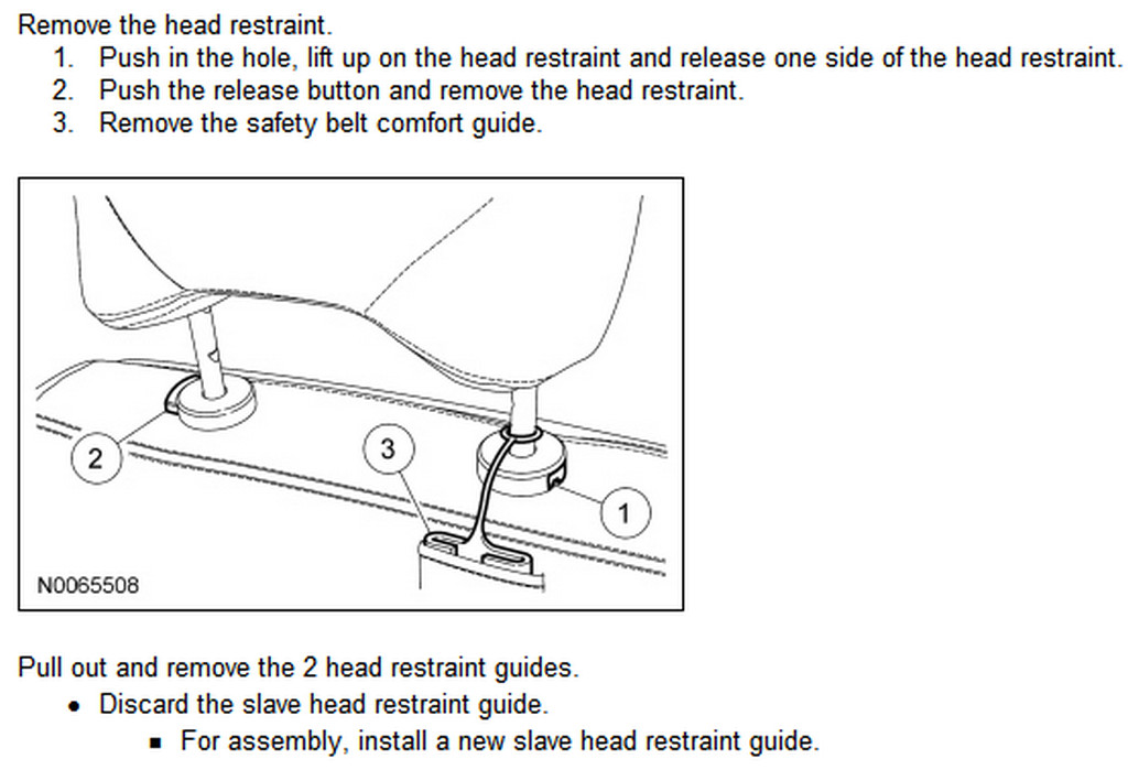 Honda Crv Remove Rear Seat Headrest