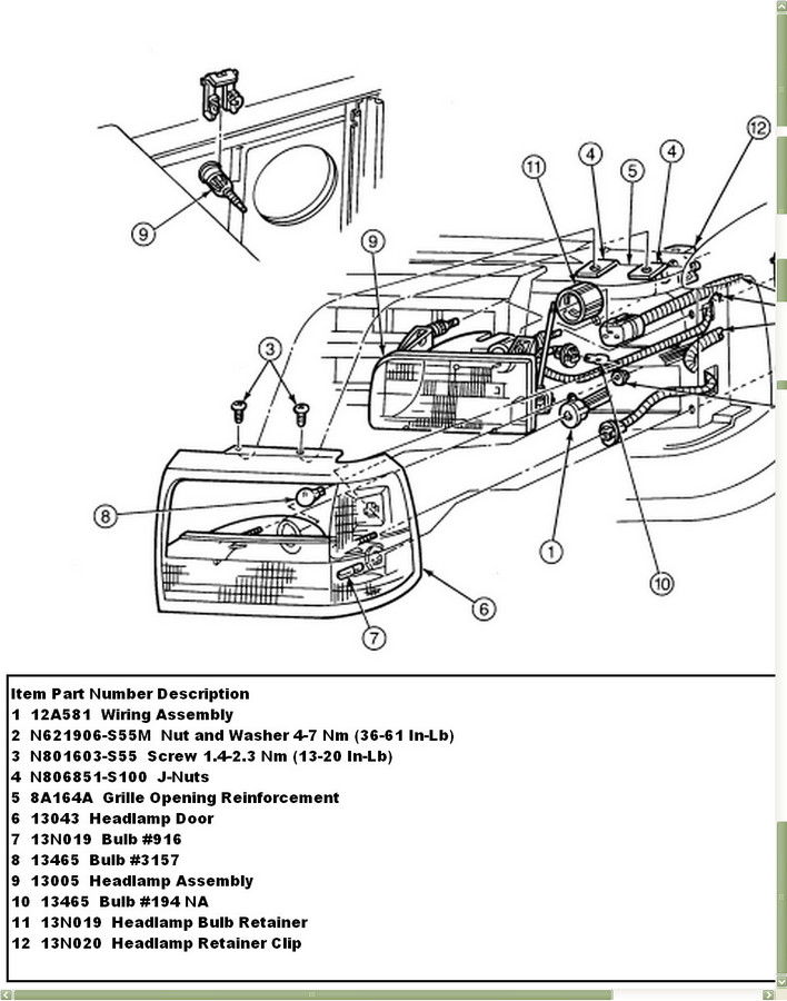 1996 f150 pick up  a headlight module from the lighting