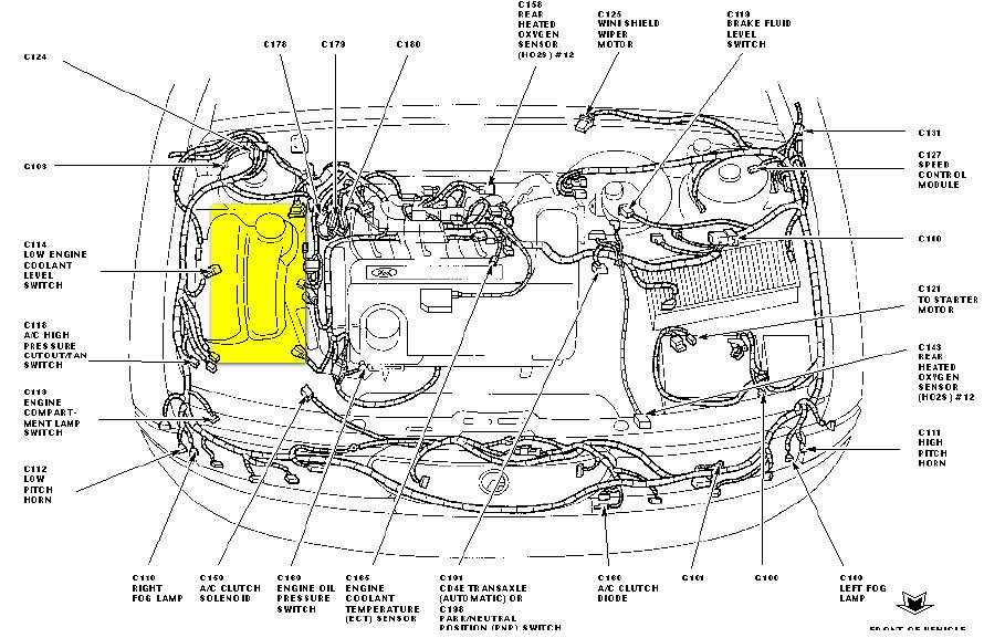 1996 ford contour engine diagram  1996  free printable