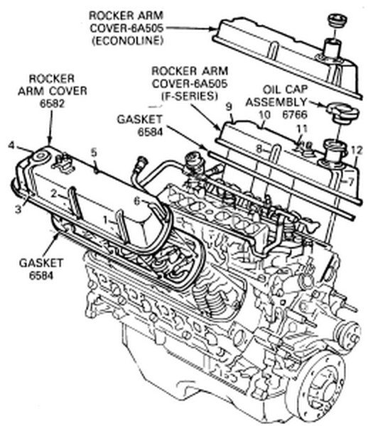 how to replace valve cover gaskets on 1990 e100 302 hp efi