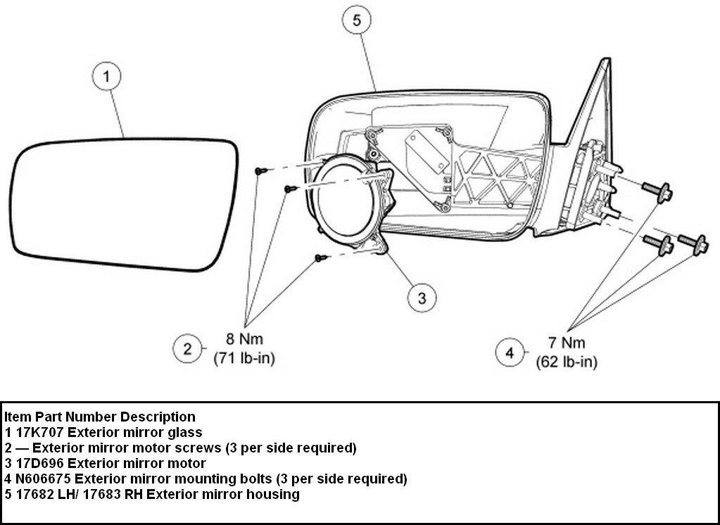 How To Re Attach Backing Plate In Passenger Side Mirror