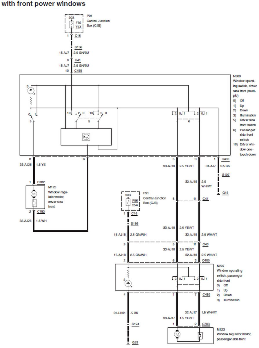 1957 ford power window wiring diagram ford power window diagram both front power windows stopped working, fuse is good ...