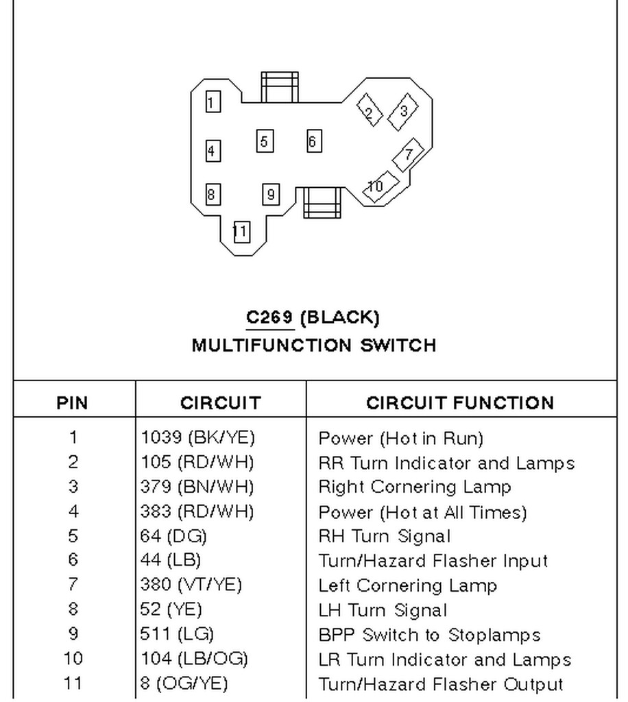 D Dbf D F D B Ca C Early Bronco Frequency as well Continental Mfs Connector C moreover Horn Switch together with Attachment as well Window. on ford steering column turn signal switch wiring diagram