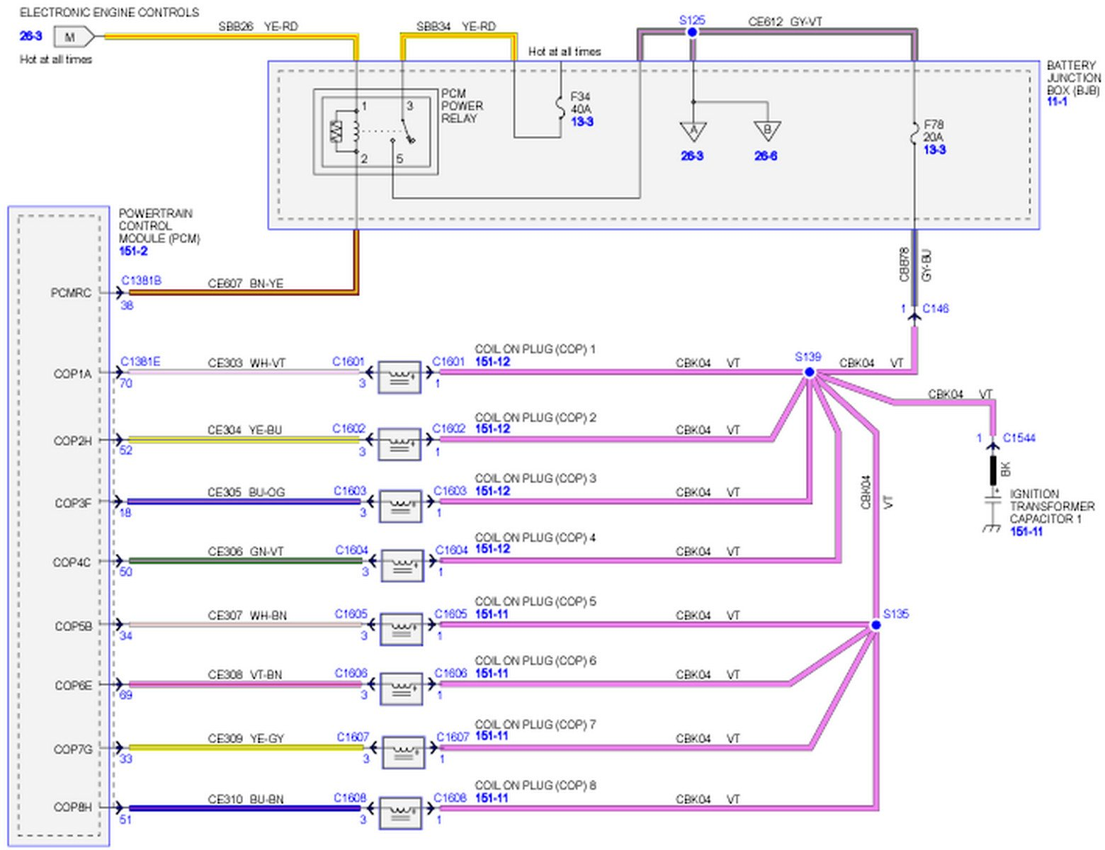 2010 F150 Wiring Diagram : I need a pcm wiring schematic for f with