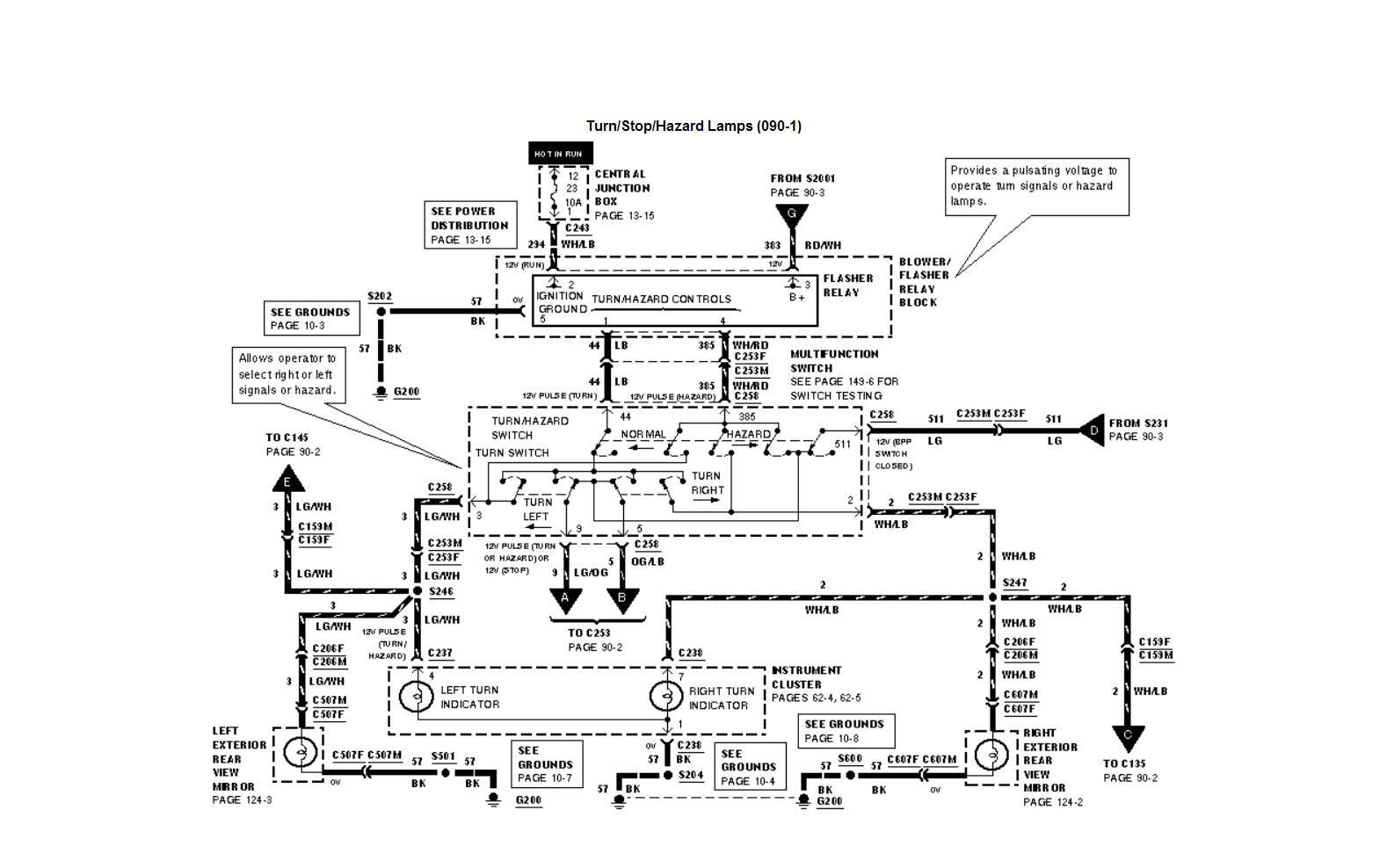 2000 lincoln navigator directional wiring diagram