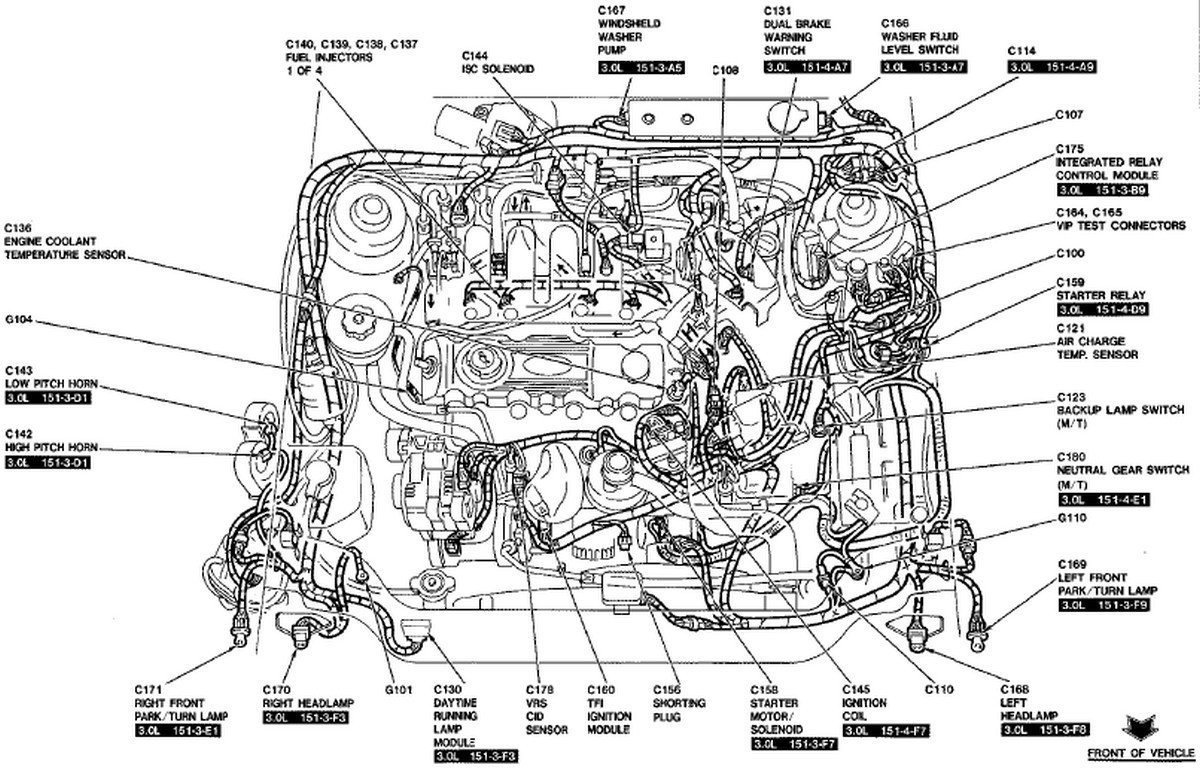 2003 ford ranger engine compartment diagram