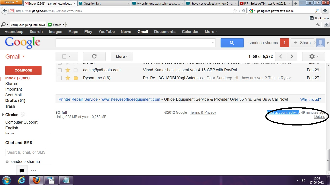 how do i search my gmail mailbox