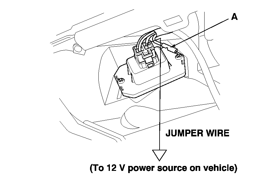 honda cr v blower motor resistor location
