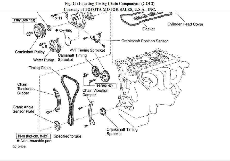 toyota corolla timing chain diagram  toyota  free engine