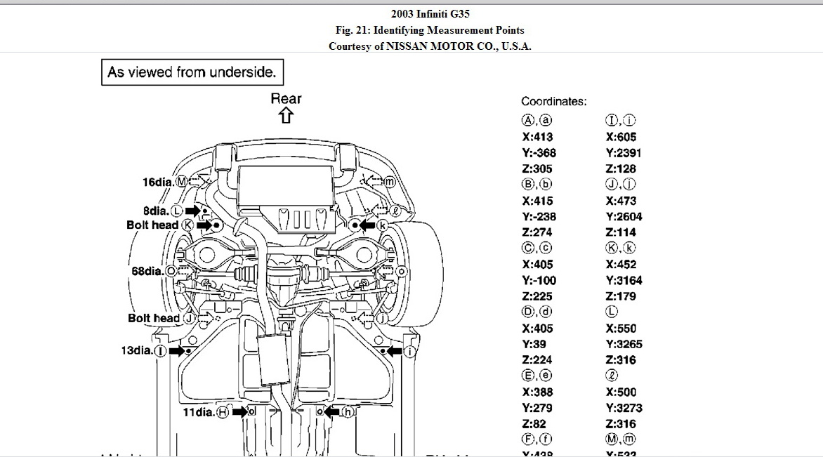 nissan altima undercarriage diagram