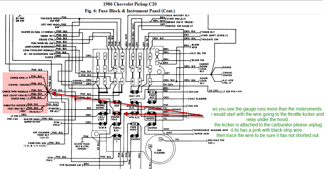 86 Chevy Truck Alternator Wiring Diagram : Chevrolet silverado wiring diagram free engine