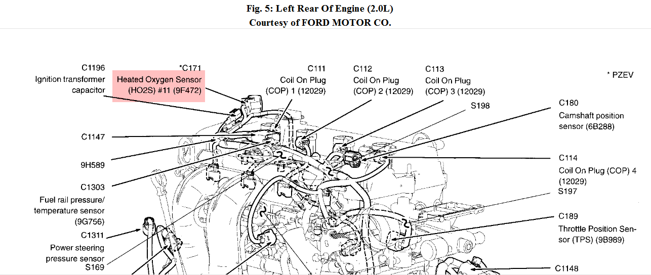 5q43b 0491 P 0410 on 2013 Ford Fusion 2 5 Engine