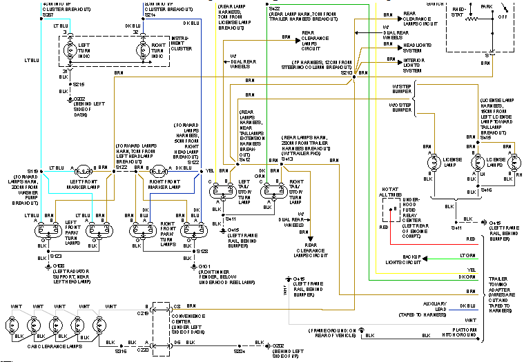 1997 hurricane gfci wiring diagram my instument panel lights, tail lights, lic. plate light have all quit working, i check fuses ... gfci wiring diagram feed through method