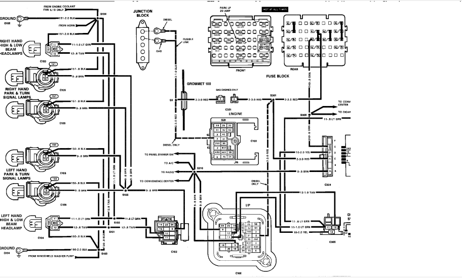 89 Chevy Tail Light Wiring Schematic