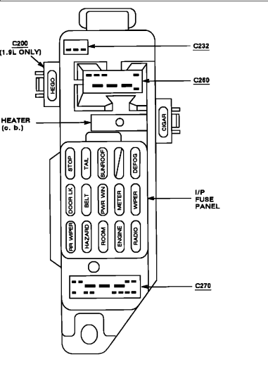 ford zx2 engine compartment diagram