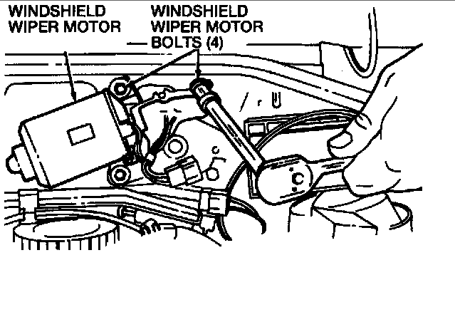 how do i remove the windscreen motor assembly from a 1997
