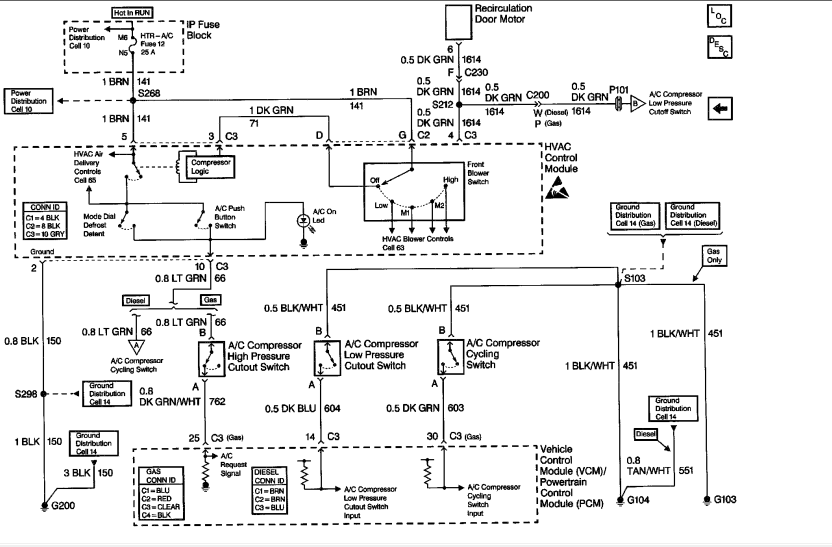 Not Getting 12v Power To Clutch On A  C Compressor For 1999
