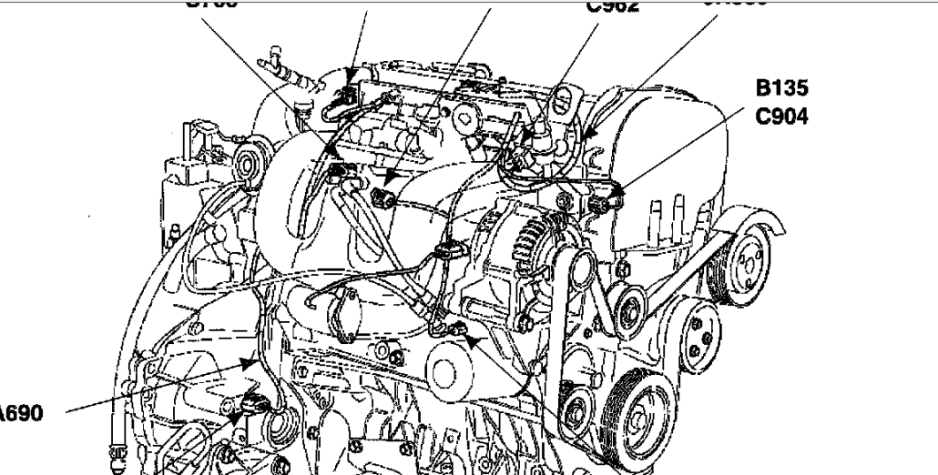 2002 ford focus engine diagram diagram 2002 ford focus zts housing there is no more leak fans rpm