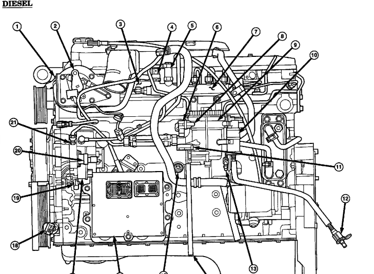 beamalarm   image Engine Cummins 20Flow 20Diagrams M11 20Engine 20Diagram exhaust 20side on 2000 ford mustang stereo wiring diagram