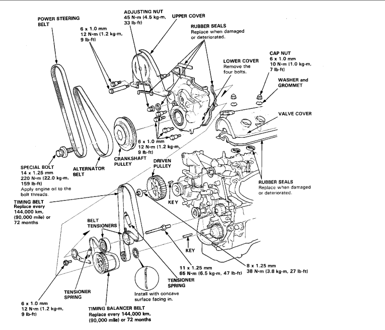 03 accord 2 4 engin diagram  03  free engine image for