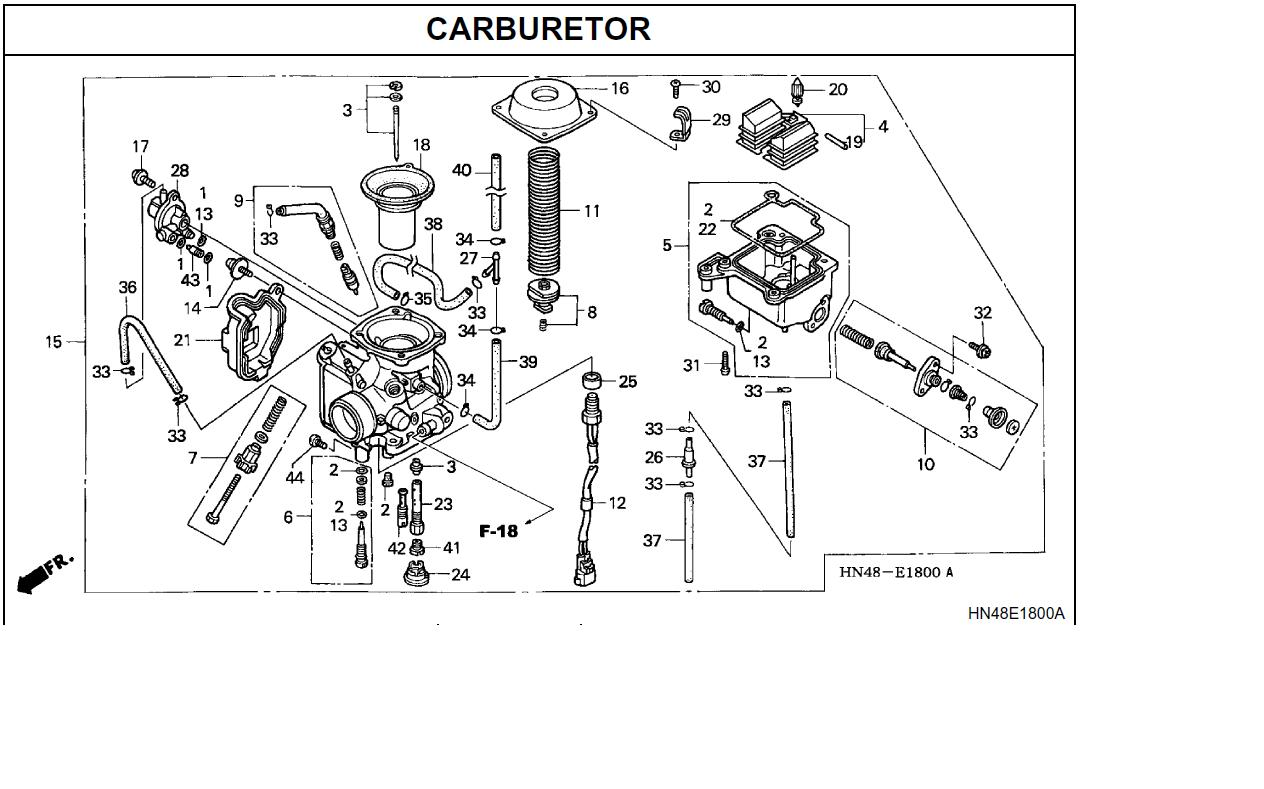 honda trx 400 carb diagram  honda  free engine image for