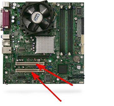 slot PCI biasanya berwarna putihdan dan setiap motherboard memiliki