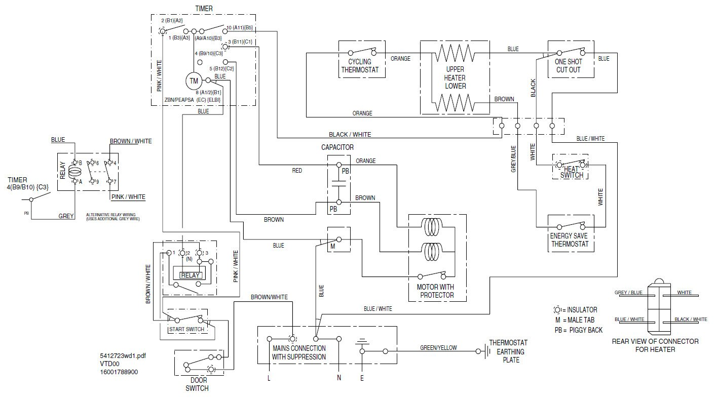 Wiring Diagram For Indesit Washing Machine : I have juct put new bearingon a indesit tumble dryer but