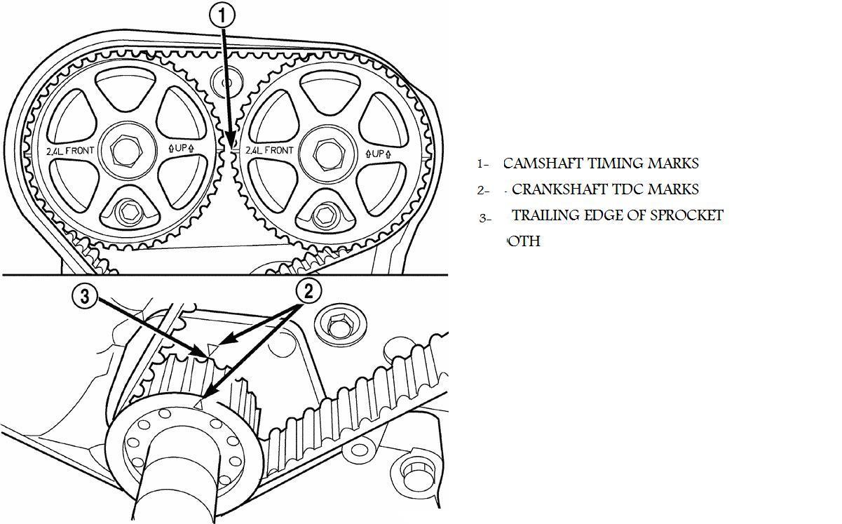 1998 dodge avenger drive belt diagram