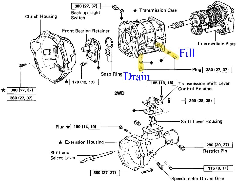 2swtd 1995 Toyota Pu Speed Transmission Problem