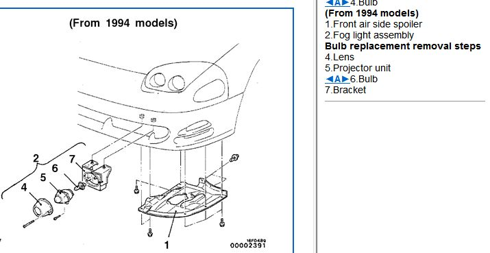 mitsubishi fog light wiring diagram mk4 jetta fog light wiring diagram #8