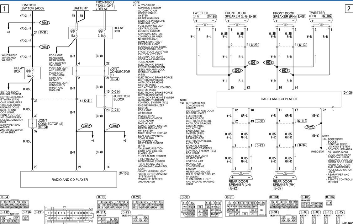 I Need A Wiring Diagram For Stereo    Radio 2004 Endevor  One That Is Acuarate And Correct