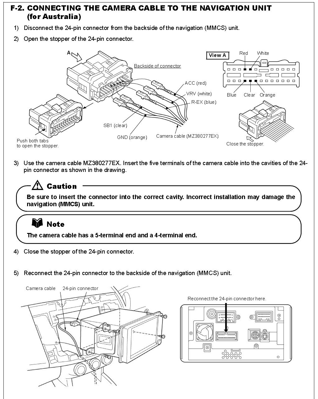 Mitsubishi Triton Wiring Diagram Free For You L200 Needed How Do I Remove The Wires From A 24 Pin Connector In My Trailer