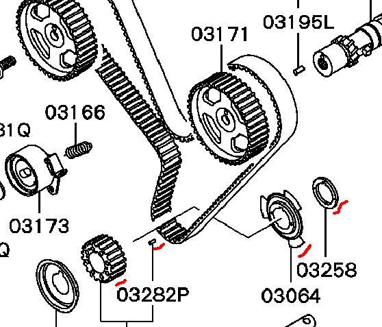 1992 Mitsubishi 3000gt Camshaft: Does The 1995 3000gt Crankshaft Sprocket Have Two Roll