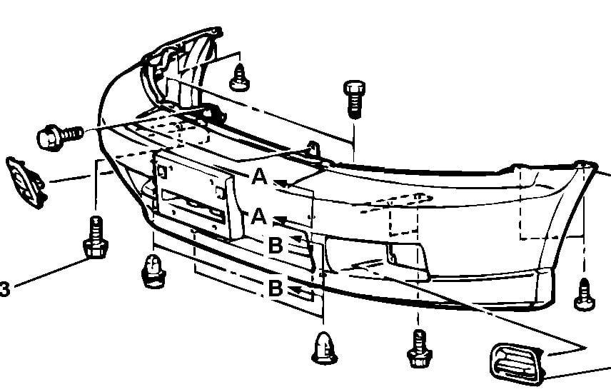 2003 Mitsubishi Outlander Bumper Diagram