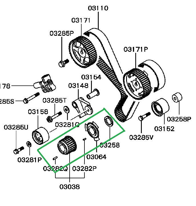 montero sport the timing gear on the crankshaft vin belt once the crank gear is installed and you are ready to install the timing belt make sure you have the following setup crank gear installed