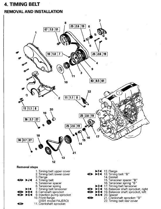 1999 mitsubishi 2 4 engine diagram service manual  1999