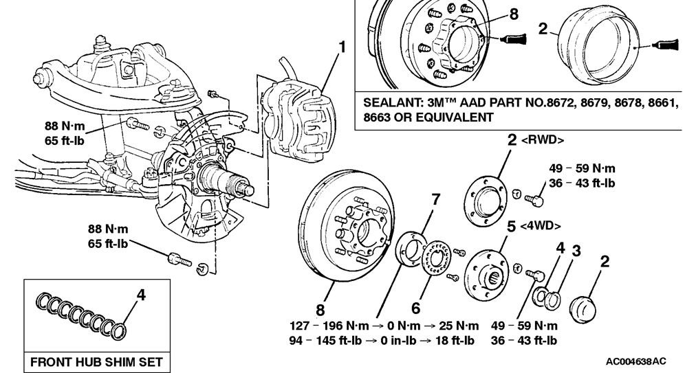 2002 mitsubishi montero rear suspension