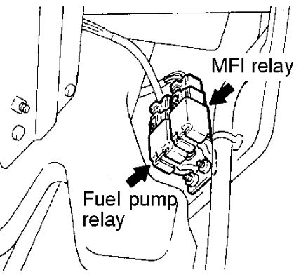 Montero Sport Fuel Pump Relay on v6 engine diagram