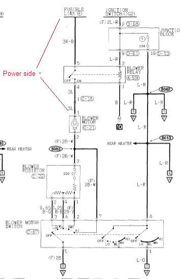 2002 mitsubishi montero sport blower motor vents defroster