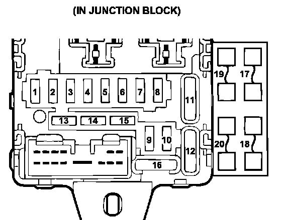 1999 mitsubishi galant fuse box diagram