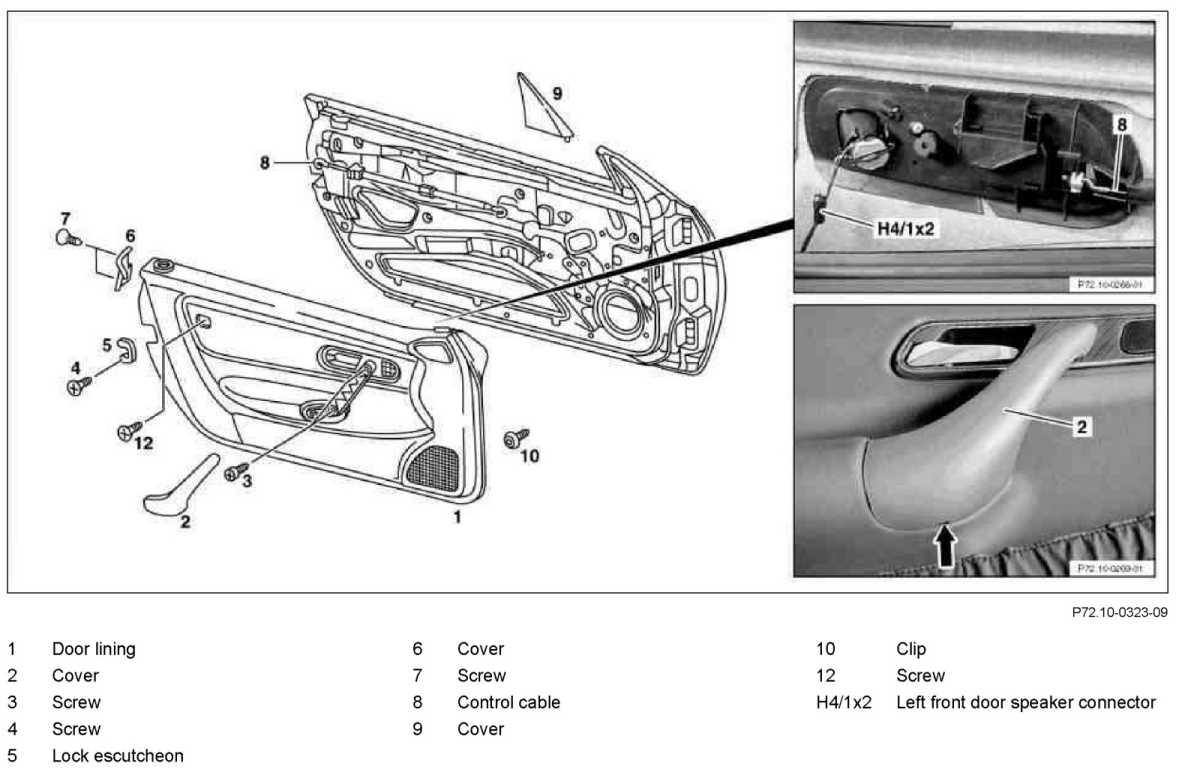 Service manual remove door panel 2000 mercedes benz slk for 2000 mercedes benz ml320 owners manual