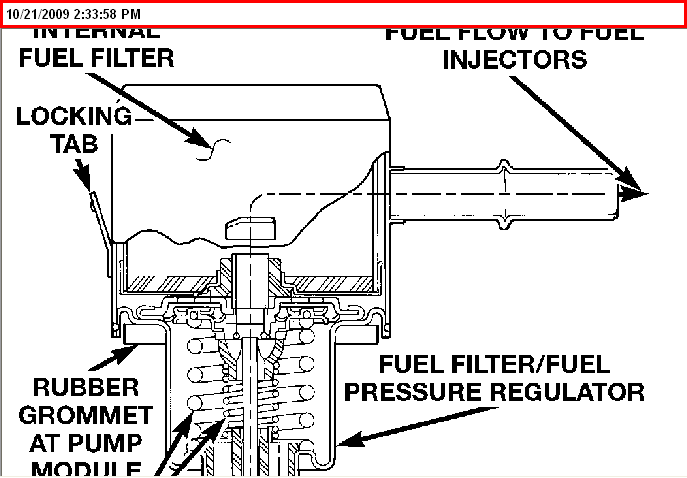 where is the fuel filter located on a 1999 chrysler 300m
