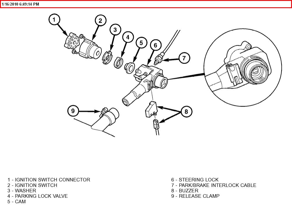 chrysler crossfire ignition key
