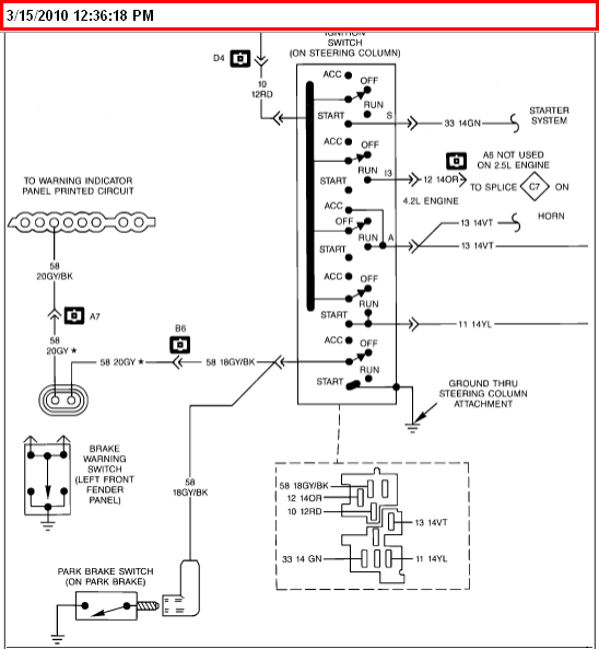 wiring diagram for a 1989 wrangler islander model ignition system graphic