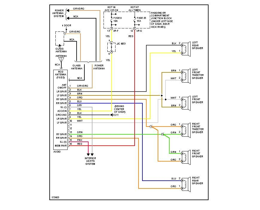 2003 Hyundai Sonata Audio Wiring Diagram